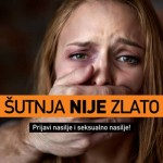 "Poster from USAID-supported campaign ""Silence is NOT Golden (Sutnja Nije Zlato)"""