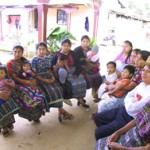Mayan women and one husband receive family planning counseling at the health center in Chimaltenango, southern Guatemala. Men's