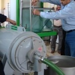 Al-Zaytoon Olive Association members in Ninawa install new olive processing equipment provided by USAID-Inma.