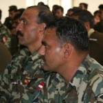 Pakistani army engineers attend a workshop on safe construction techniques