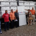 Delivery of USAID assistance (seed and feed for dairy cows) to dairy farmers of Samac.