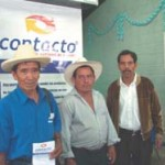 Don Feliciano Castellanos, director of La Estansa, (right) and Flaviano Cajti Alvarado (center) are Kaqchikel-speaking Mayans