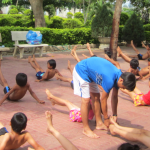 Y Nguyet's swimming class in Kom Tum province