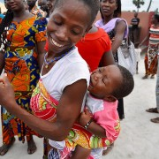 A new mother with her daughter in Bouake