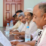 A meeting organized by Yemen Communities Stronger Together (YCST) to strengthen cooperation and collaboration between local authorities
