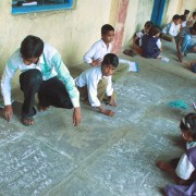 "Indian children at one of Pratham Education's ""learning camps."""