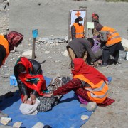 USAID's Community-Based Disaster Risk Reduction project provides training in first aid and first response for communities vulner