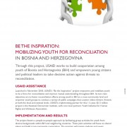 FACT SHEET: BE THE INSPIRATION: MOBILIZING YOUTH FOR RECONCILIATION IN BOSNIA AND HERZEGOVINA