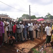 Guineans line up in Conakry to vote in the June 27 elections.