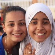 Educational summer camps sponsored by the USAID FORSATY program provide youth opportunities to express themselves creatively whi