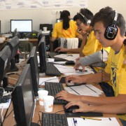 The Coalition's call center operators on Election day, receiving calls from short-term observers.