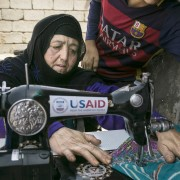 USAID-funded sewing machines distribution in Iraq