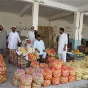 Shops at the newly opened Laghman Wholesale Market.