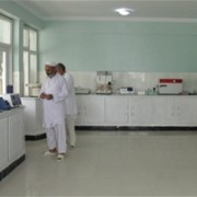 The new food testing laboratory in Jalalabad.