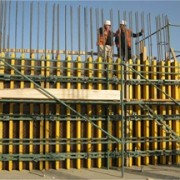 Ghazi High School, September 2009. Well conceived pre-fabricated highly rigid formworks allow for very fast progress.