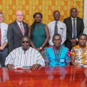 Amb. Robert Jackson with executive members of the Ghana Federation for Disability Organisation