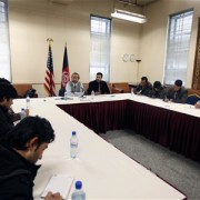 USAID Mission Director Dr. Ken Yamashita holds a press conference with Afghan and international media on USAID's emergency winte