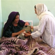 USAID works on reducing maternal adn newborn mortality in Afghanistan by increasing the number of trained midwives