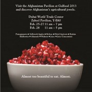 Afghanistan Will Showcase Its Agricultural Riches at Gulfood 2013