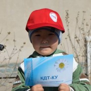 The little participant of the USAID information event on TB prevention in Bishkek