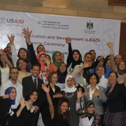 LEAD scholars celebrate the impact the USAID-funded 4-year scholarship to American University in Cairo has had on their lives.