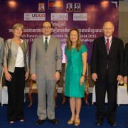 Ms. Julie Chung, Chargé d'Affaires, U.S. Embassy Phnom Penh, delivered remarks at the opening ceremony of the Enrich Forum on Su