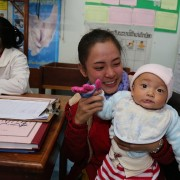 The USAID Nurture project engages Lao communities to improve nutrition and sanitation for mothers and children.