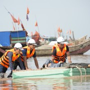 USAID supports a disaster response drill in Nam Dinh province.