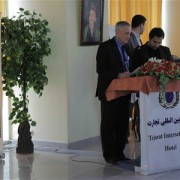 USAID Senior Development Officer Kevin Rushing addresses the ABADE road show audience in Herat