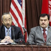 USAID Mission Director Dr. Ken Yamashita and Minister of Higher Education Dr. Obaidullah Obaid announced the new program, Streng