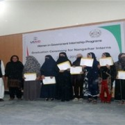 Eighteen women celebrated their graduation from the USAID Women in Government Internship Program in Jalalabad
