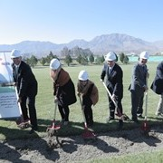 Broke ground ceremony of a new women's dormitory at the American University of Afghanistan.