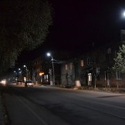 Newly installed street-lighting system in Aparan.