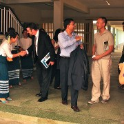 A U.S. delegation of representatives from IT industry leaders Cisco, Google, HP, Intel, and Microsoft visit Burma