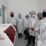 U.S Consulate Almaty personnel visited the Scientific and Practical Center for Sanitary and Epidemiological Expertise lab in Almaty