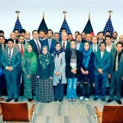 U.S. Ambassador to Afghanistan, P. Michael McKinley, honors 34 Afghan small and medium enterprises.