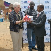 U.S Ambassador hands over books