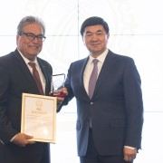 A total of 25 awards were given to Kyrgyzstani businesses involved in various economic sectors such as the apparel, construction, and jewelry industries.