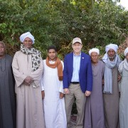 USAID Deputy Assistant Administrator for the Middle East Andy Plitt met with farmers in Upper Egypt to discuss how they have adapted their farming methods to meet global good agriculture practices.