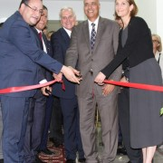 USAID Mission DIrector Sherry F. Carlin inaugurates the Center of Excellence for Water at Alexandria University (AU) with representatives from AUC, AU, and Cornell University.