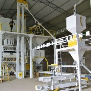 The new seed processing machinery.