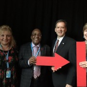 (L to R) Stop TB Partnership Executive Director Dr. Lucica Ditiu, Minister of Health of South Africa Aaron Motsoaledi, USAID Administrator Mark Green, and Executive Director of RESULTS/RESULTS Educational Fund (REF) Dr. Joanne Carter