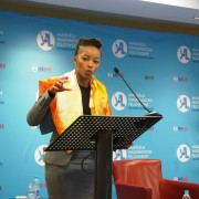 Ms. Phuti Mahanyele, Executive Chairperson of Sigma Capital addressing Mandela Washington Fellows