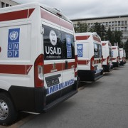 United States Donated Six New Ambulances for Health Care Institutions in Serbia