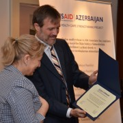 A member of parliament is recognized for her support to the project