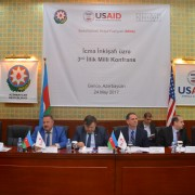 Nearly 150 participants gathered to discuss community development progress in Azerbaijan