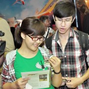 Hanoi students attend the screening of Poaching Wars to mark World Rhino Day.