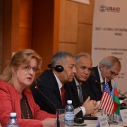 USAID Mission Director speaks at the opening of the conference.