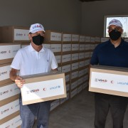 Ambassador Lee Litzenberger Visits Red Crescent Warehouse ahead of Delivery of Hygiene Supplies to 600 Households