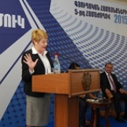 USAID Armenia Mission Director Karen Hilliard at Jermuk Conference